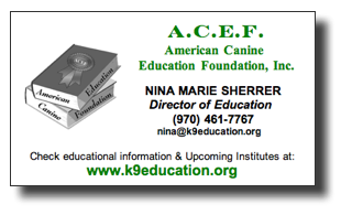 ACEF Nina Marie Sherrer - Director of Education, contact information