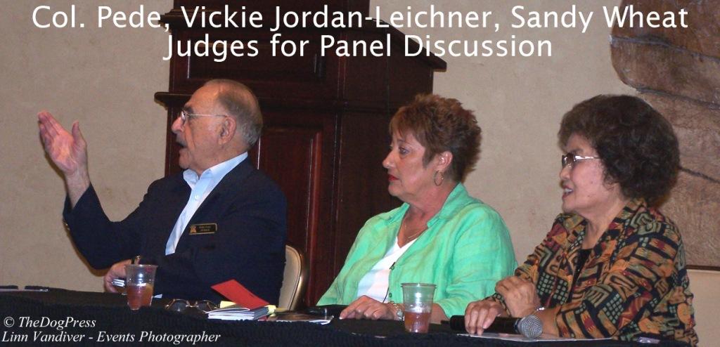 Col. Pede, Sandy Wheat, Vickie Leichner, ACEF Judges Panel